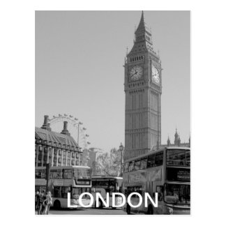Postal blanco y negro de Westminster Londres