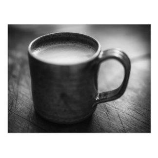Postal blanco y negro del café del café express