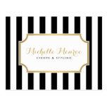 Postal blanco y negro intrépida de lujo elegante