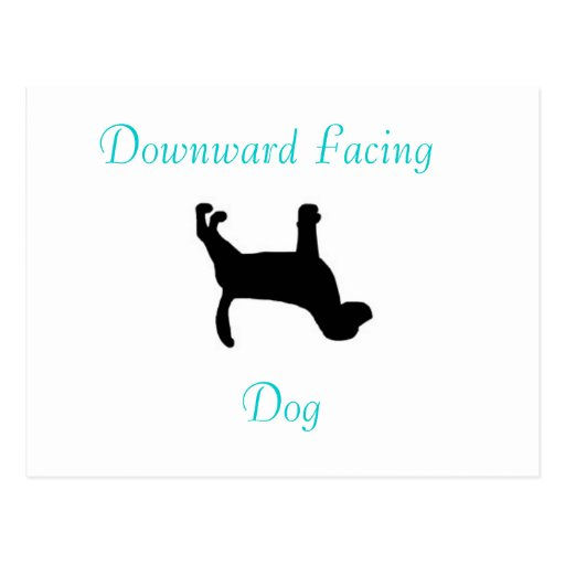 Postal boca abajo del perro de la yoga
