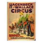 Postal Bombayo del vintage del circo de Hagenbeck