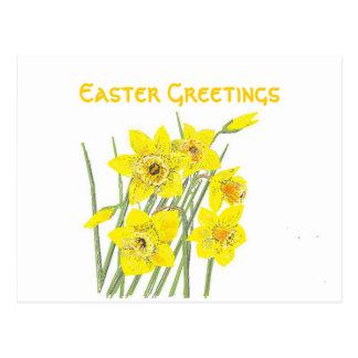 Postal bonita de los saludos de Pascua de los
