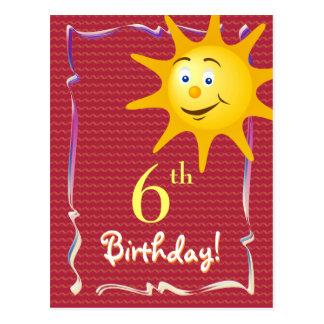 Postal bonita del feliz cumpleaños con el sol lind