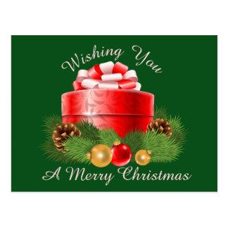 Postal bonita del navidad de la imagen del regalo