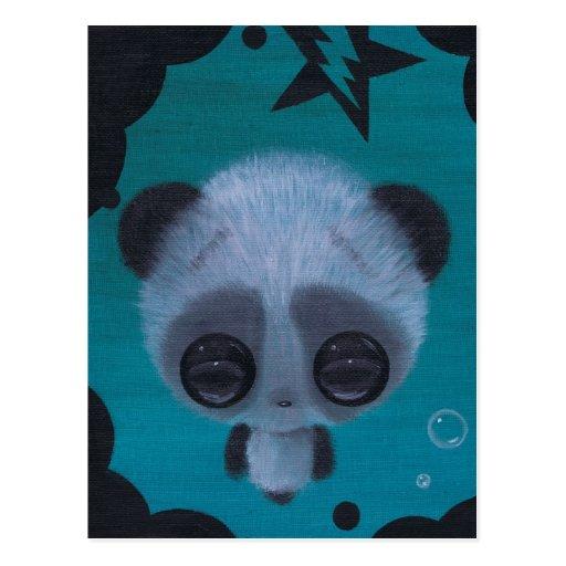 postal borrosa de la panda de la burbuja