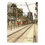 Postal - bosquejo del tren de la carretilla de San