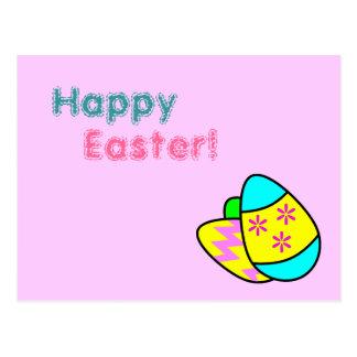 Postal brillante de los huevos de Pascua