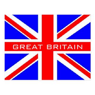 Postal BRITÁNICA de la bandera de Union Jack de la