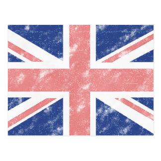 Postal BRITÁNICA de la bandera del vintage