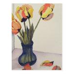 Postal caida de los tulipanes