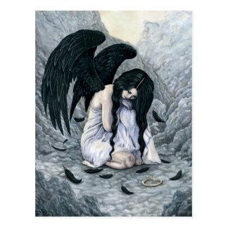 Postal caida halo quebrado del ángel
