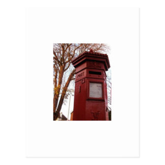 Postal - caja inglesa del poste del Victorian