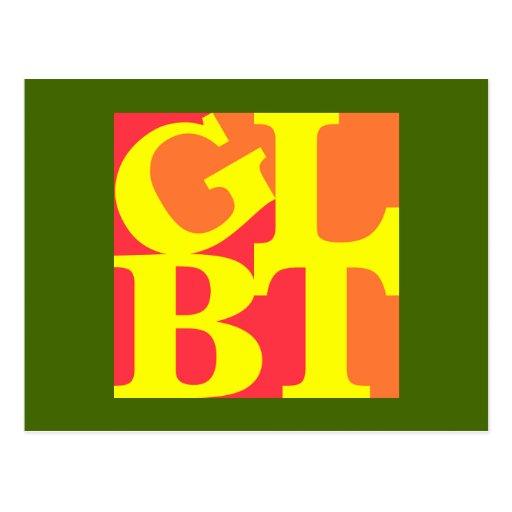 Postal caliente del estallido de GLBT