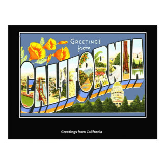 Postal California del vintage
