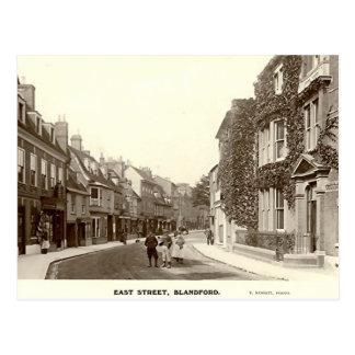 Postal, calle del este, foro de Blandford, Dorset