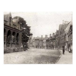Postal, calle principal, saltando Campden, c 1920 Postales