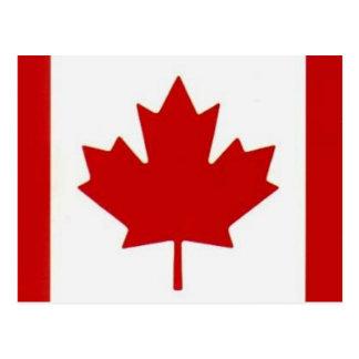 Postal canadiense de la bandera
