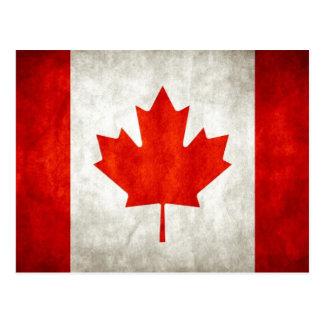 Postal canadiense de la bandera del vintage