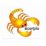 Postal caprichosa del escorpión