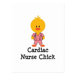 Postal cardiaca del polluelo de la enfermera