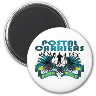 Postal Carriers Gone Wild 2 Inch Round Magnet