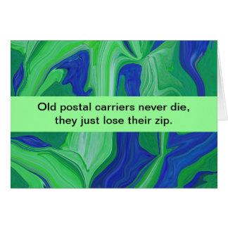 postal carriers humor greeting card
