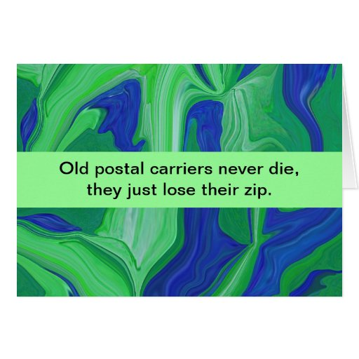 postal carriers humor greeting cards