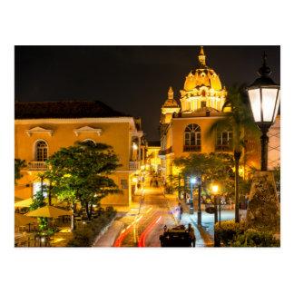 Postal, Cartagena Nocturna, Colombia Tarjeta Postal