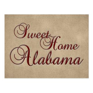 Postal casera dulce de Alabama