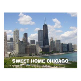 Postal casera dulce de Chicago