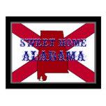 Postal casera dulce de la bandera de Alabama