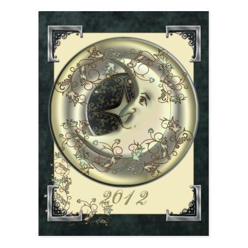 Postal celestial 2012 del calendario de la luna