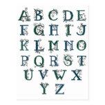 Postal céltica del alfabeto