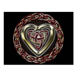 Postal céltica del corazón