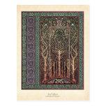 Postal céltica del diseño de los árboles