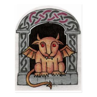 Postal céltica del Gargoyle