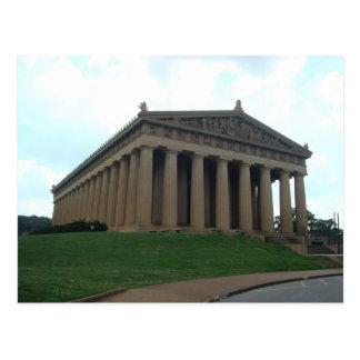 Postal centenaria del parque de Nashville TN del P