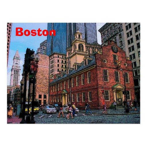 Postal céntrica de Boston