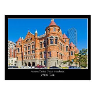 Postal céntrica de Dallas Tejas del tribunal rojo