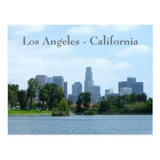 ¡Postal céntrica de la opinión de Los Ángeles! Tarjetas Postales
