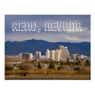 Postal céntrica del horizonte de Reno Nevada