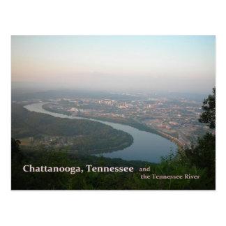 Postal - Chattanooga TN y el río Tennessee