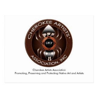 Postal cherokee de la asociación de los artistas