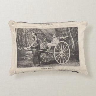 Postal china 1905 de la foto del carrito del cojín decorativo