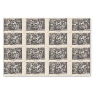 Postal china 1905 de la foto del carrito del papel de seda pequeño