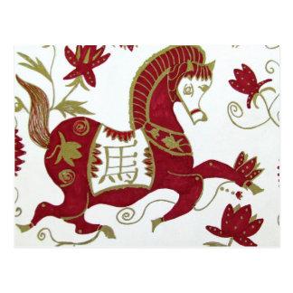 Postal china de la astrología del caballo