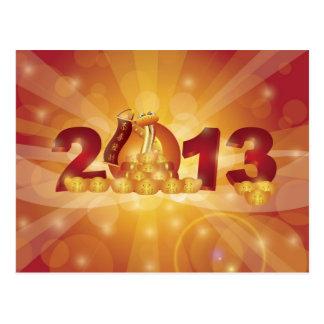 Postal china de la serpiente del Año Nuevo 2013