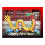 Postal china del Año Nuevo del dragón