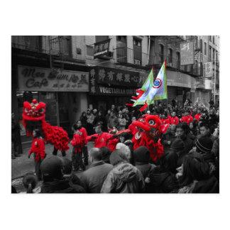 Postal china del desfile NY del Año Nuevo