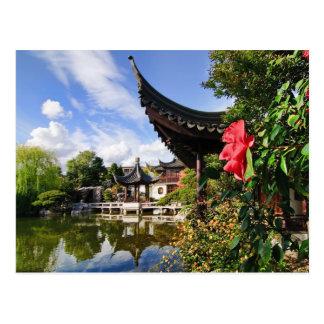 Postal china del jardín del Lan Su